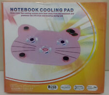 "Notebook Laptop USB 2.0 Cooling Pad 12"" 3 Fans NEW"