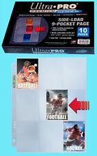 10 ULTRA PRO 9 POCKET SIDE LOAD Premium Pages NEW Binder Album sideloading mtg