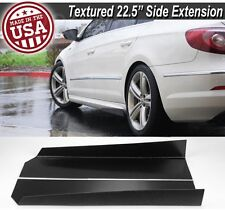"23"" L Side Skirts Extension Bottom Wing Lip Splitter Spoiler For Hyundai Kia"