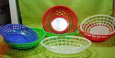 LOT OF 7 RETRO DINER MALT SHOP BURGER/FRIES BASKETS RED GREEN BLUE WHITE