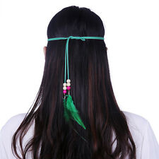 New 1pc Indian Gothic Hippie Rooster Feather Tassels Headband Festival Hair band