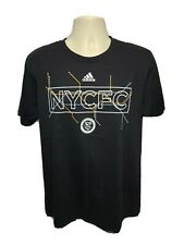 Adidas NYCFC New York City Football Club Adult Large Black TShirt