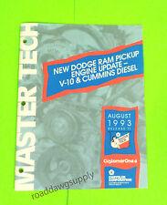 1994 Dodge Ram Truck V10 & Cummins Diesel Engine Master Tech Review Bulletin