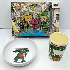 TMNT - 100 Piece Jigsaw Puzzle 08018 Rose Art PLUS CUP & BOWL SET!!!