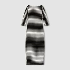 LA REDOUTE LADIES Striped Maxi Dress SIZE 10 - 12 NEW (ref 420)