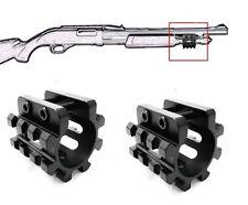 "2Pcs Hollow Gauge 1"" For Shotgun Mag Tube Tri Rail Picatinny Mount 3 Rails 12 GA"