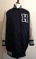 Tommy Hilfiger Collection Women Long Satin Varsity Bomber Jacket UK 12