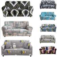 1/2/3/4 Stretch Sectional Sofa Covers 2 Seater Set Slipcovers Room Couch Protect