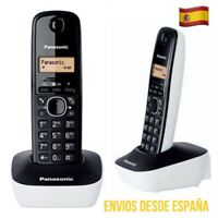 Teléfono Inalámbrico Panasonic KX-TG1611 Color Blanco y Negro Base Gran Alcance