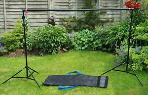 Tred 6-10' Studio Heavy-Duty Backdrop Screen Stand Kit Photo Background Support