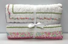 NEW Pottery Barn KIDS Phoebe Floral FULL/QUEEN Quilt~Pink Multi