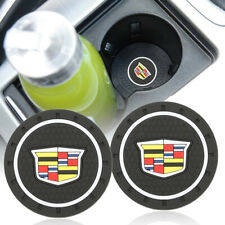 2x New Anti-Slip Car Cup Holder Pad Mat Coaster Silicone for Cadillac Emblem
