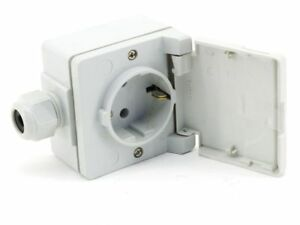 Jung 06200355 Ground Simple Socket 1-fach Socket Surface Mount IP44 Grey 620NAW
