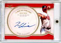 TOM GLAVINE 2018 Topps Definitive On Card Auto Autograph 1/1 HOF Atlanta Braves