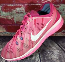 quality design eb703 8a939 NIKE FREE 5.0 TR FIT TRAINING GYM WORKOUT CROSSFIT RUNNING SHOES WOMENS 8  PINK