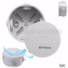 IP44 Round Waterproof Weatherproof Junction Box Plastic Electric Enclosure Case