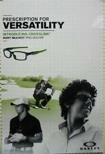 OAKLEY sun golf 2012 RORY McILROY crosslink BIG duratrans poster ~NEW~!