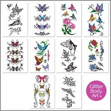 Girls Temporary Tattoos - Body Tattoo Stickers - Party Favour Pack of 10 Sheets