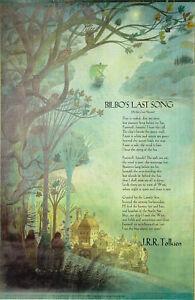 JRR TOLKIEN 'Bilbo's Last Song' Typed Manuscript / Poster - reprint