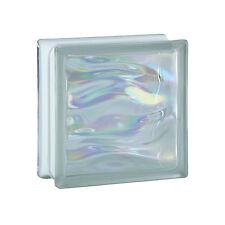 1 Paket (= 6 Stück) Glasbausteine Glasbaustein Glassteine AQUA PERLMUTT 19x19x8
