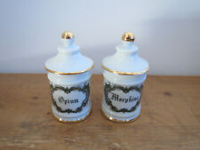 Opium and Morphine Apothecary Jars / Pharmacy pots French Limoges Porcelain