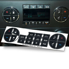 Auto Car AC Dash Button Sticker Repair For GM Tahoe Suburban Avalanche Silverado