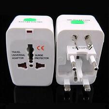 Convert AC plug from UK EU AU US to Universal World Travel Power Plug Adapter