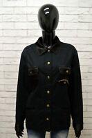 Giubbotto CARLA FERRONI Donna Taglia XL Giubbino Giacca Jacket Woman Cotone Blu