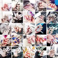 24pcs Acrylic False French Nails Full Finger Nail tips Fake Art Cover Manicure
