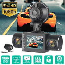 2'' HD 1080P 3Lens Car DVR Recorder Dash Cam Video Camera G-Sensor Night Vision