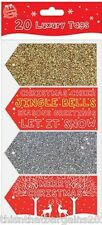 20 Luxury Christmas Gift Tags - Gold Silver Red