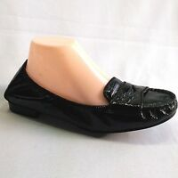 Cole Haan NikeAir Womens 8.5B Black Patent Leather Ballet Flats Loafers Shoes