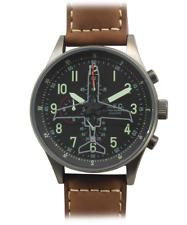 Orologio Uomo Militare Vintage Cronografo Sportivo Acciaio Subacqueo Quarzo MEC