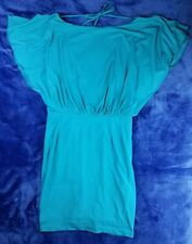 Jessica Simpson Dress Size 6 Biscay Bay Teal Cocktail Batwing Dolman Open Back