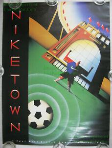 NITF! ☆ Nike Town Poster ☆ Soccer ☆ New York 57th Street ☆ Terry Allen Art