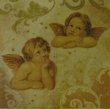 40 weihnachtliche Servietten Engel Motiv Weihnachten Deko gold 33 x 33cm 3-lagig