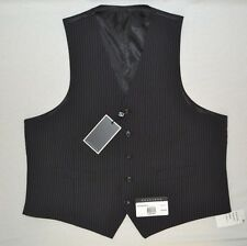 Sean John Men's 44/Short Black/White Stripe Classic Fit Vest