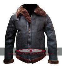 Men's Aviator B3 Shearling Sheepskin Leather Flying Jacket