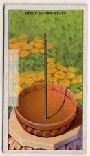 Early Roman Heliotropion Sun Dial Clock Polos Time 1920s Ad Trade Card