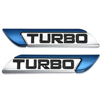 3D Blue Metal TURBO Logo Car Body Truck Badge Body Emblem Decal Sticker