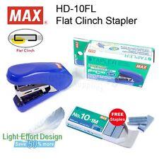 MAX HD-10FL Flat Clinch Stapler +1 Box Staples Free,Save 50% Light effort design