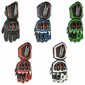 RST Tractech Evo 4 Leather Motorbike Motorcycle Sports Gloves CE Approved