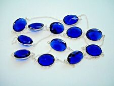 """Gem Station Silver Necklace 28-36+"""" Ab One-of-a-Kind Royal Blue Tanzanite 12"""