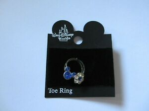 Official Disney Mickey Mouse Crystal Toe Rings - Royal Blue colour