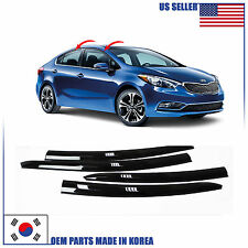 NEW SMOKED DOOR VISOR WINDOW SUN RAIN VENT DEFLECTOR KIA FORTE SEDAN 2014-2017