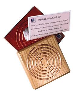 Lakhovsky Oszillator aus Holz und Kupfer, Schwingungsfelderzeugung
