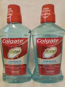 2 Colgate Total for Gum Health Mouthwash, Clean Mint 16.9oz