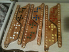 """2 - 6-Player MARBLES and JOKERS Game ***NEW HANDMADE 3/4"""" Plywood"""