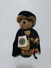 "Boyds Bears Endora Spellbound 10"" Halloween Witch Bear w/Cat Plush Retired"