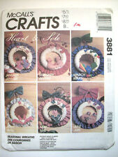 Holiday Seasonal wreaths 12 months of designs  unused pattern 3881